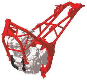 2011 Honda CBR250R Chassis